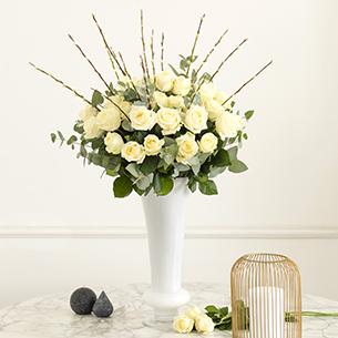 Bouquet de roses Pureté Collection Prestige