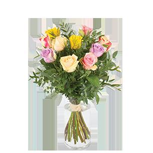 Bouquet de roses Rainbow Mariage