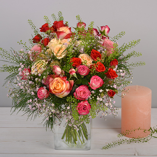Bouquet de roses Rose cerise