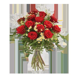 Bouquet de roses Rouge idylle Saint Amour