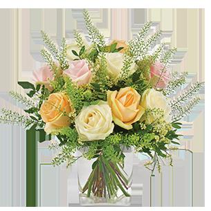 Bouquet de roses Rose melba Mariage invité