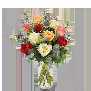 Bouquet de roses Rouge pastel Pour le plaisir