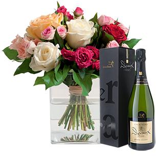 Bouquet de roses Instant de fête Cadeau Naissance