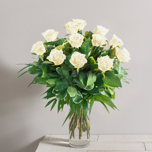 Bouquet de roses Tonic blanc