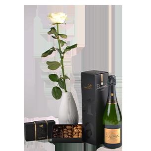 Bouquet de roses Trio festif Fête du chocolat
