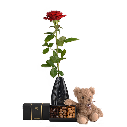 Bouquet de roses Trio de tendresse