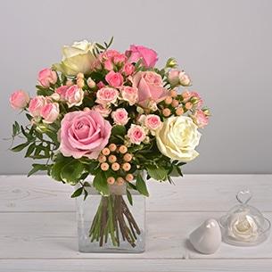 Bouquet de roses Vanille fraise Anniversaire