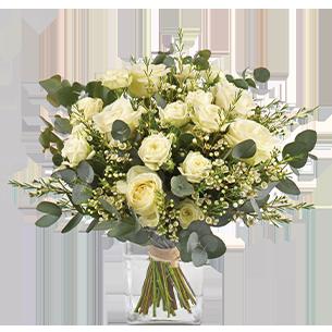 Bouquet de roses Vert coton Muguet