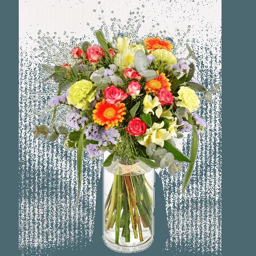 Bouquet de fleurs Arlequin