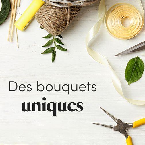 """Bouquet de fleurs Le bouquet du fleuriste blanc """"Spécial Fête des pères"""""""