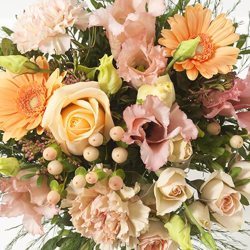 Bouquet de fleurs Boudoir et son ourson Harry