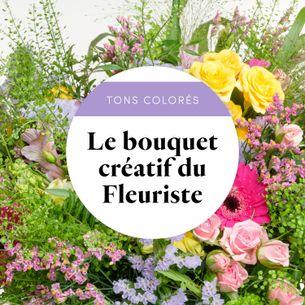 Bouquet de fleurs Bouquet du fleuriste Multicolore Fête des Grands-Mères