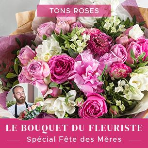 Bouquet de fleurs Bouquet du fleuriste Fête des Mères - tons roses