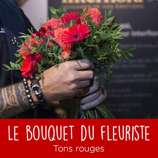 Bouquet de fleurs Bouquet du fleuriste tons rouges