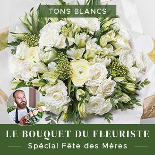 Bouquet de fleurs Bouquet du fleuriste Fête des Mères - tons blancs