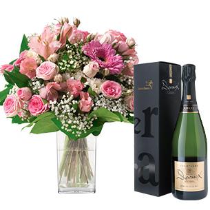 Bouquet de fleurs Bonheur et son champagne Devaux Interflora Collection Homme Festif