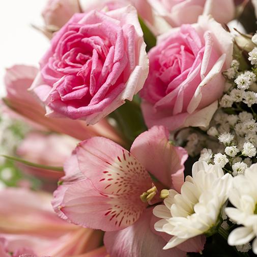 Bouquet de fleurs Bonheur et son champagne Devaux Interflora