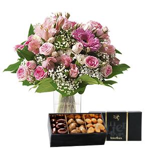 Bouquet de fleurs Bonheur gourmand Remerciements