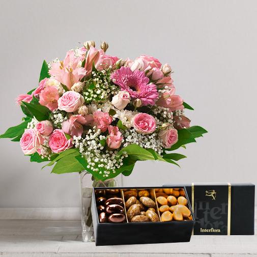 Bouquet de fleurs Bonheur gourmand
