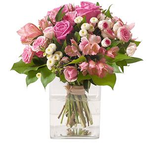 Bouquet de fleurs Douceur Naissance bébé garçon