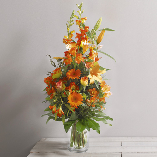 Bouquet de fleurs Harmonie orange