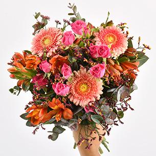 Bouquet de fleurs Liberty Fête des Célibataires