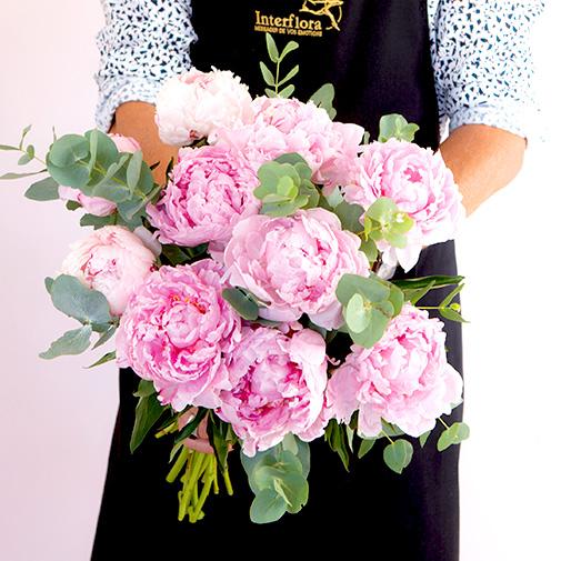 Bouquet de fleurs Nos belles pivoines et leurs amandes au chocolat