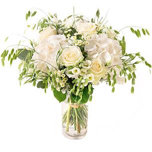 Bouquet de fleurs Nuage Naissance bébé garçon