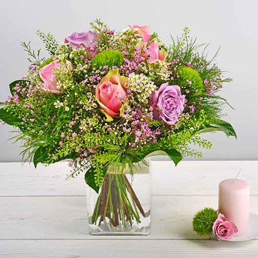 Bouquet de fleurs Organza