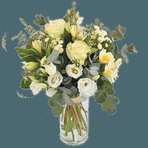 Bouquet de fleurs Paradis blanc Mariage