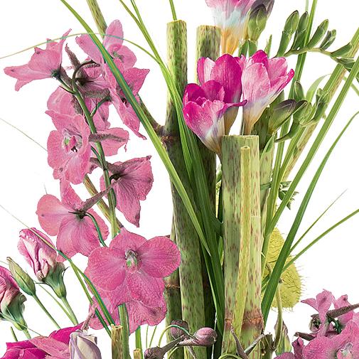 Bouquet de fleurs Saphir rose