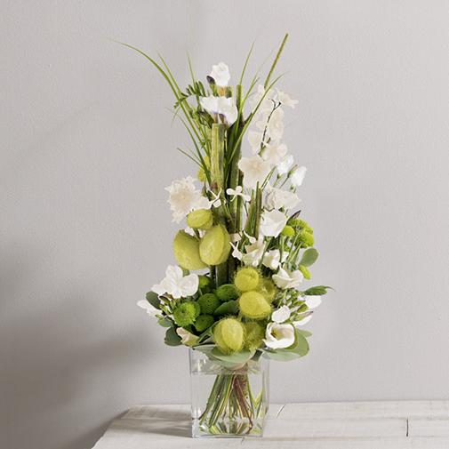 Bouquet de fleurs Saphir blanc