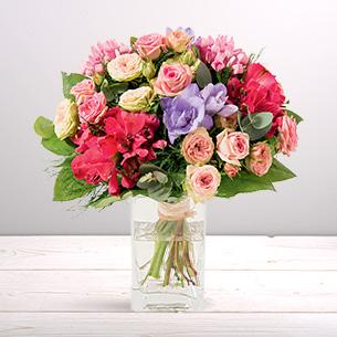 Bouquet de fleurs Soie Félicitations