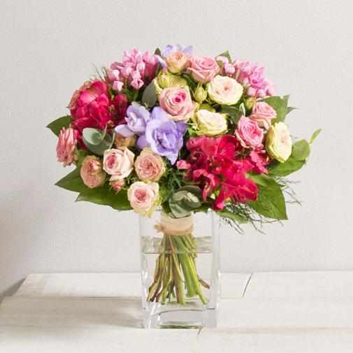 Bouquet de fleurs Soie et son vase