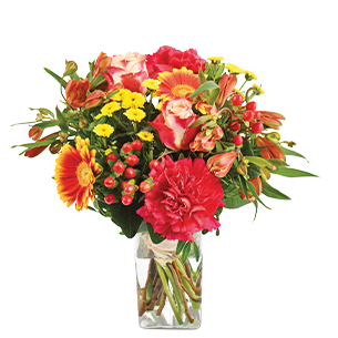Bouquet de fleurs Tutti frutti Noël