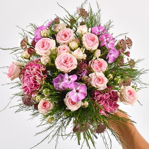 Bouquet de fleurs Velours et son champagne Devaux