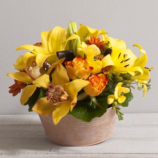 Composition florale Ambre