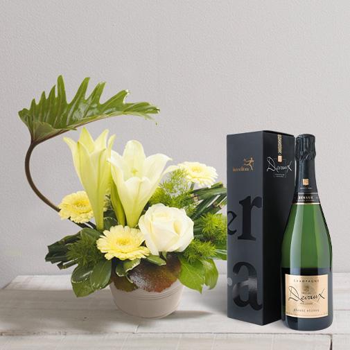 Fleurs et cadeaux Chou et son champagne Devaux Interflora