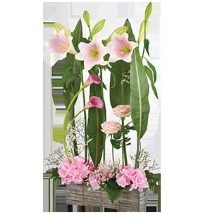 Composition florale Pink ladies Mariage