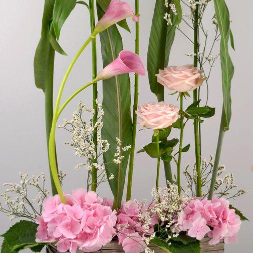 Composition florale Pink ladies