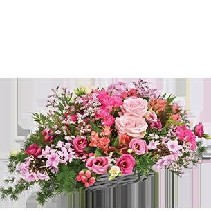 Composition florale Rosemantic Mariage