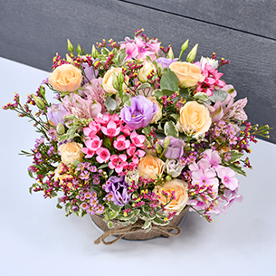 Composition florale Zeste tendre Pour le plaisir