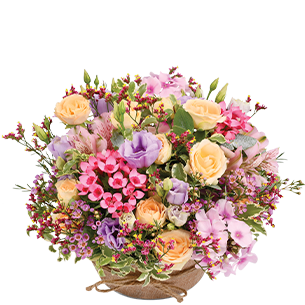 Composition florale Zeste tendre Collection Naissance