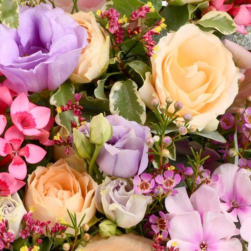 Bouquet de fleurs Zeste tendre et son ourson Harry