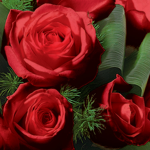 Fleurs deuil Olympie rouge