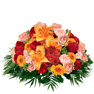 Fleurs deuil Pure orange Deuil