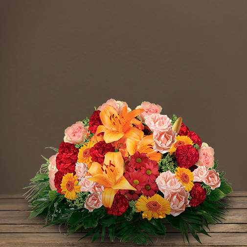 Fleurs deuil Pure orange