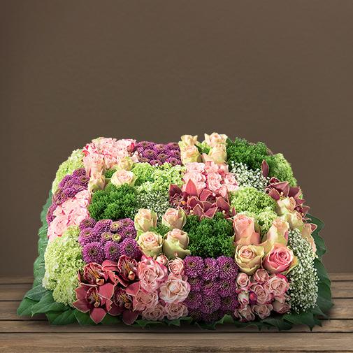 Fleurs deuil Damier