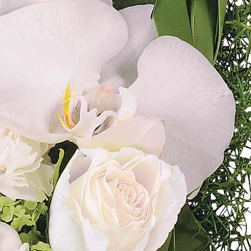 Fleurs deuil Cœur d'ange