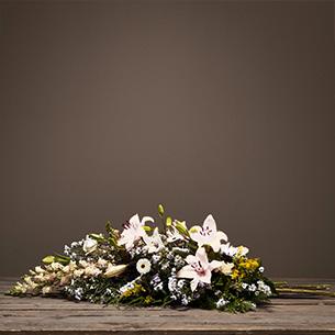 Fleurs deuil Symphonie blanc Deuil